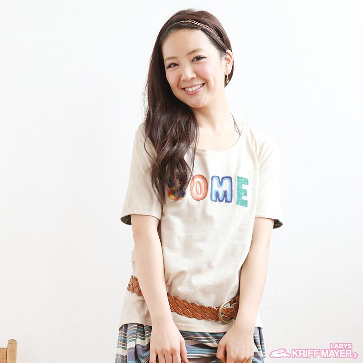 シャツ通販〜alexladysブランドのサガラ刺繍半袖TシャツKRIFF MAYER LADYSクリフメイヤーレディース