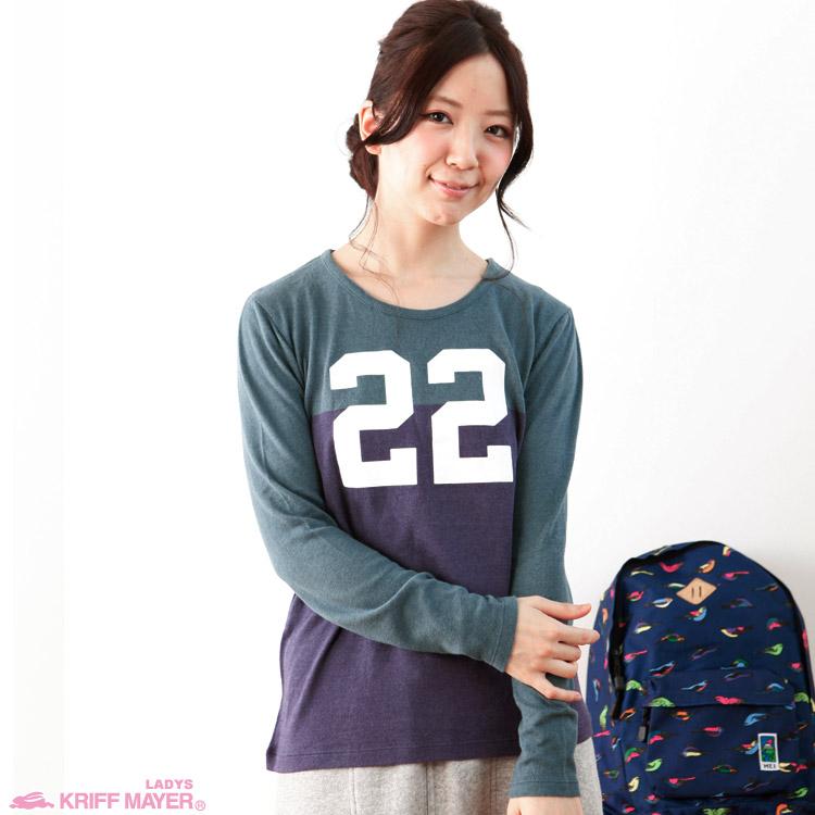 バイカラープリントTシャツ【22】KRIFF MAYER LADYSクリフメイヤーレディース