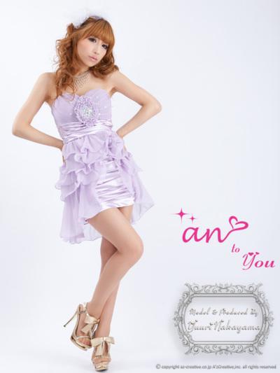 ワンピース通販〜anブランドの[an to you]ATY-2050X ラベンダー