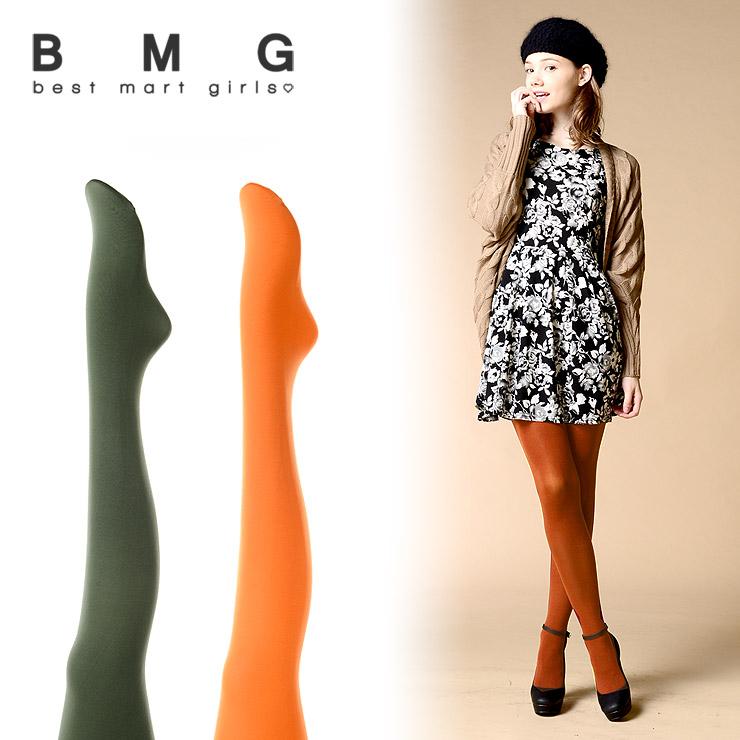 通販 BMG レディース タイツ ベストマートガールズ 80デニールカラータイツ 103986