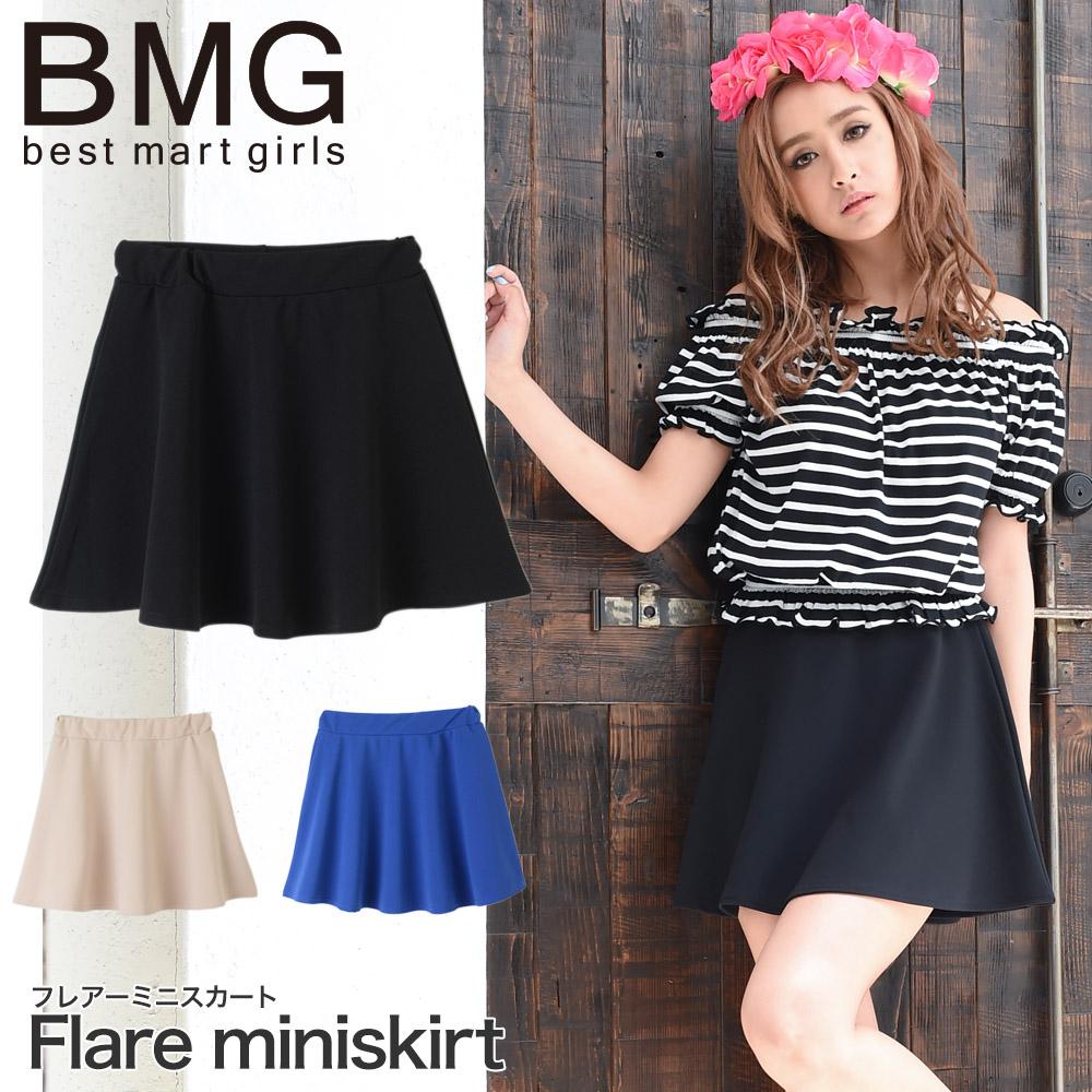 通販 BMG 矢野 安奈 レディース スカート ベストマートガールズ 韓国ファッションフレアーミニスカート 107265
