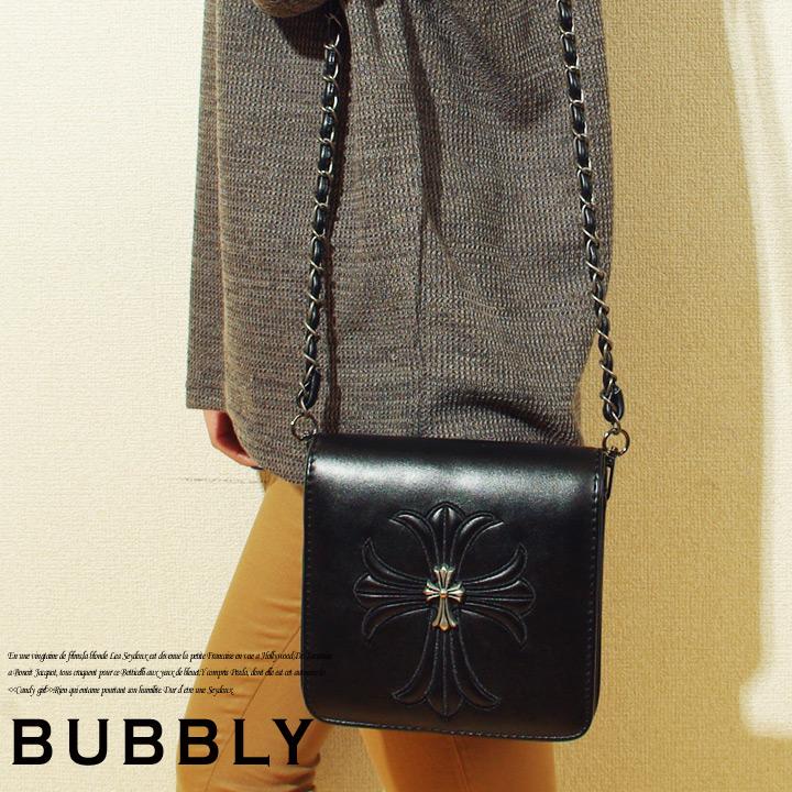 BUBBLY(バブリー)クロスレザーパッチワーククラッチバッグ