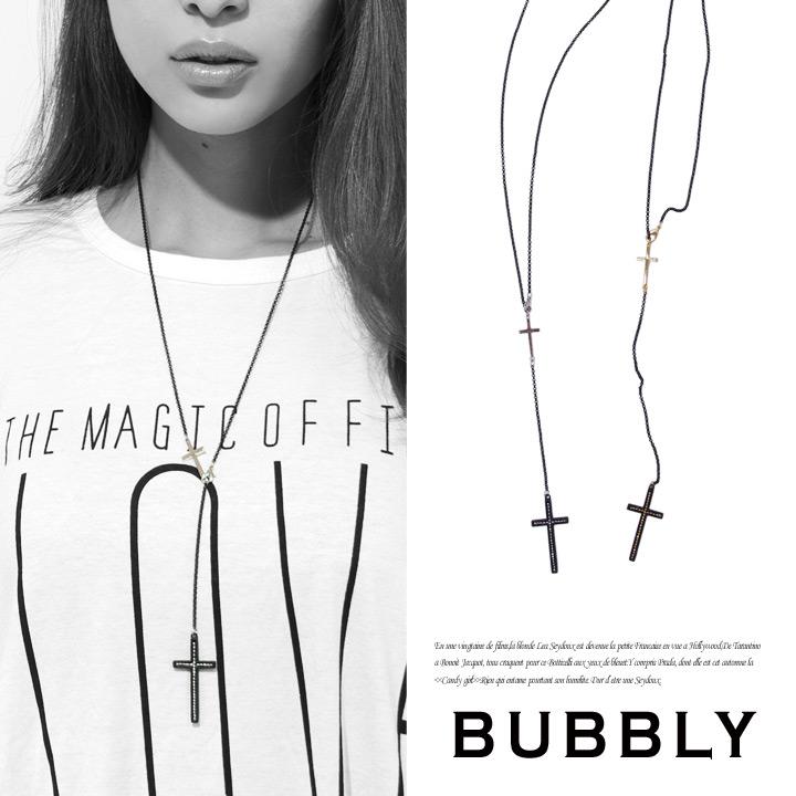 ネックレス通販〜BUBBLYブランドのBUBBLY(バブリー) ダブルクロス2WAYネックレス