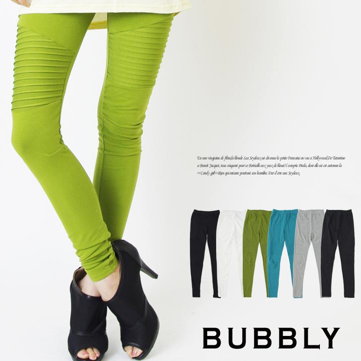 BUBBLY(バブリー) バイカーデザインカラーレギンス