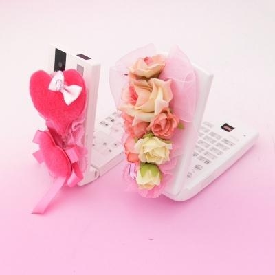 お花畑スイートローズ&ラブハートのモテ☆姫電 デコ電 【デコ電】【メール便可】 ダンス コスプレ
