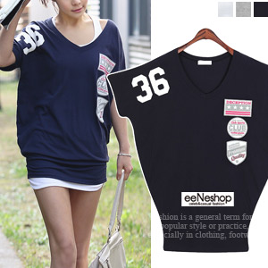 アメカジ風 ロゴ ドルマン チュニック Tシャツ[レディース][おしゃれコート・ワンピース・スカート・パンツ・Tシャツ・ニット・セットアップ・バッグ]
