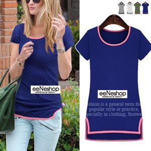 Kerry Side SlitスリムTシャツ[レディース][おしゃれコート・ワンピース・スカート・パンツ・Tシャツ・ニット・セットアップ・バッグ]
