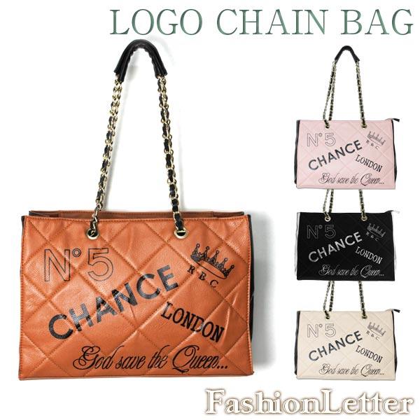 かばん ロゴチェーンバッグ かばん [RB] レザートートバッグ マザーズバッグ 大きいサイズ 女性 森ガール 軽量 レディースバッグ