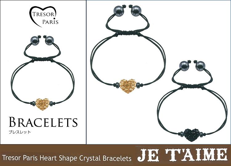 ブレスレット通販〜Felt Magliettaブランドの【Tresor Paris Heart Shape Crystal Bracelets Jetaime トレゾアジェテイム】ブレスレット10mm