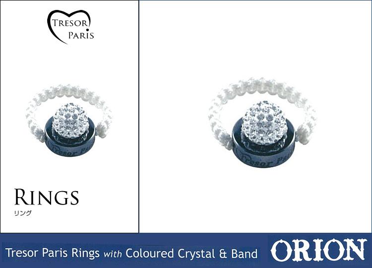 リング通販〜Felt Magliettaブランドの【Tresor Paris Ring with Coloured Crystal & Band Orionトレゾアオリオン】リング