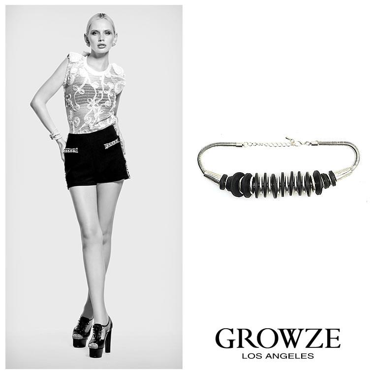 ネックレス通販〜GROWZEブランドの【GROWZE】インパクトビッグストーンモチーフネックレス