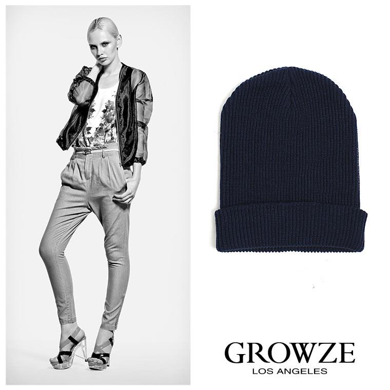 帽子通販〜GROWZEブランドの【GROWZE】ベーシックカラーシンプルニットキャップ
