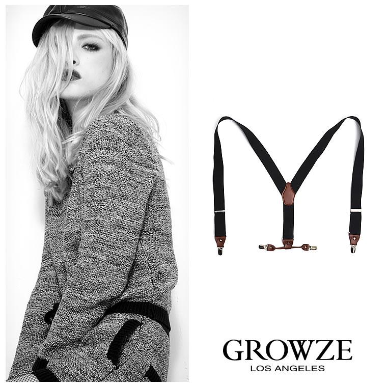 ジュエリー通販〜GROWZEブランドの[GROWZE]【A/Wコレクション】ワイドバッククロスサスペンダー