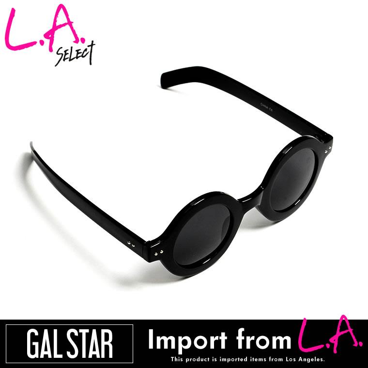 サングラス通販〜GALSTARブランドの[GALSTAR][LAセレクト]レオパードスタッズサークルフレームサングラス