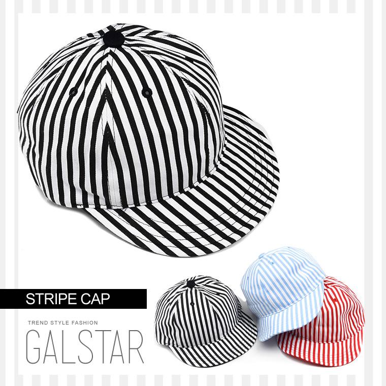 カラー ストライプ キャップ 帽子