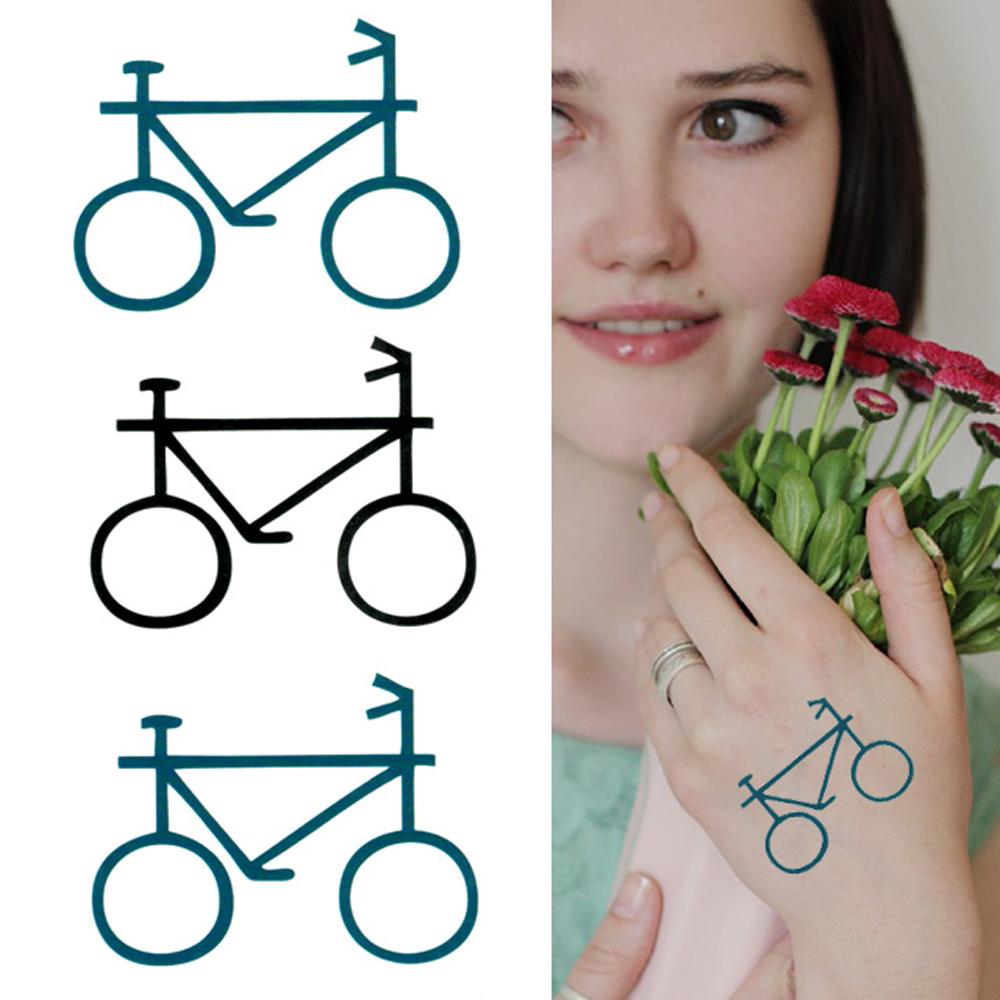 タトゥーシール 2枚セット ピクトグラム 自転車【タトゥーシール/TATTOO/ボディシール/刺青シール/ステッカー】