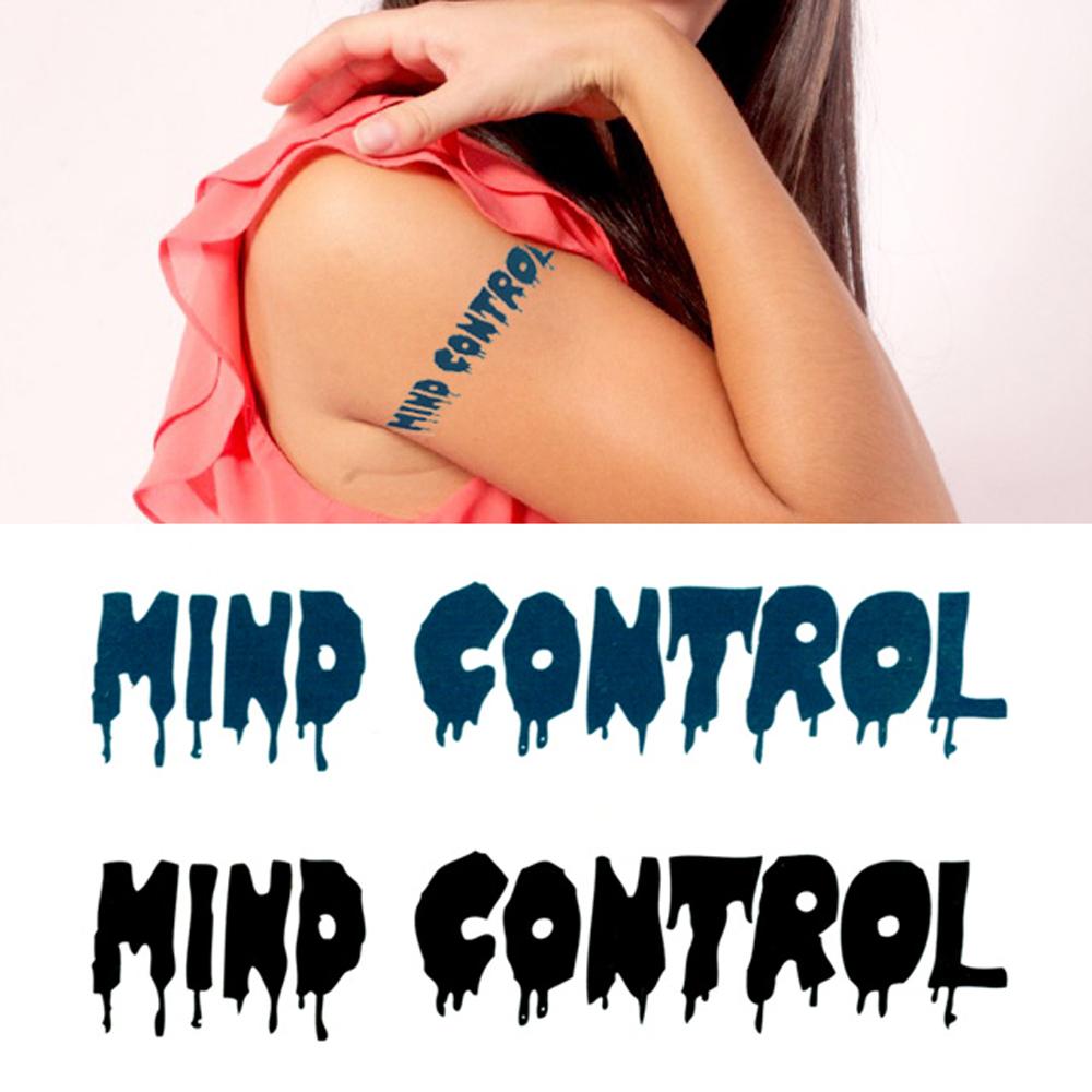 タトゥーシール 2枚セット MIND CONTROL【タトゥーシール/TATTOO/ボディシール/刺青シール/ステッカー】