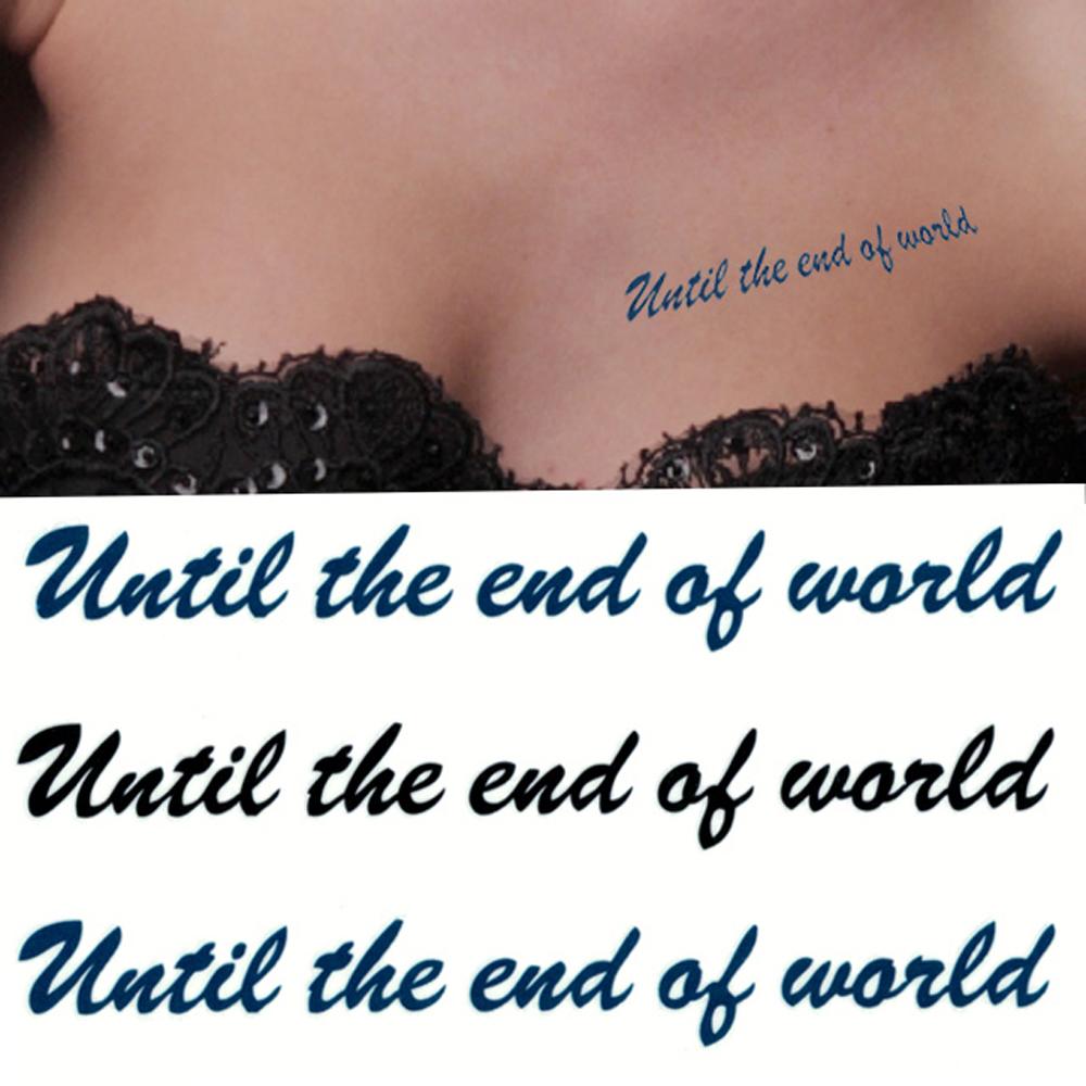 タトゥーシール 2枚セット until the end ofworld【タトゥーシール/TATTOO/ボディシール/刺青シール/ステッカー】