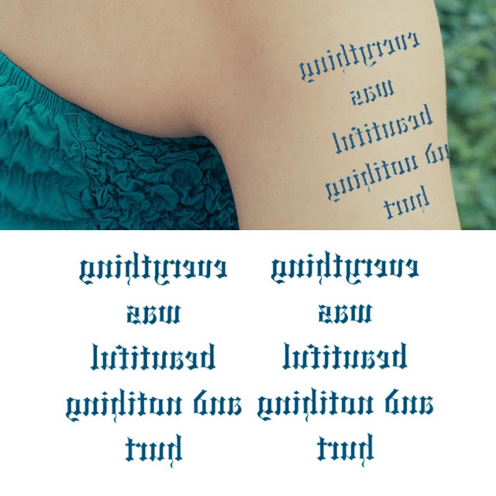 タトゥーシール 2枚セット 反転文字【タトゥーシール/TATTOO/ボディシール/刺青シール/ステッカー】
