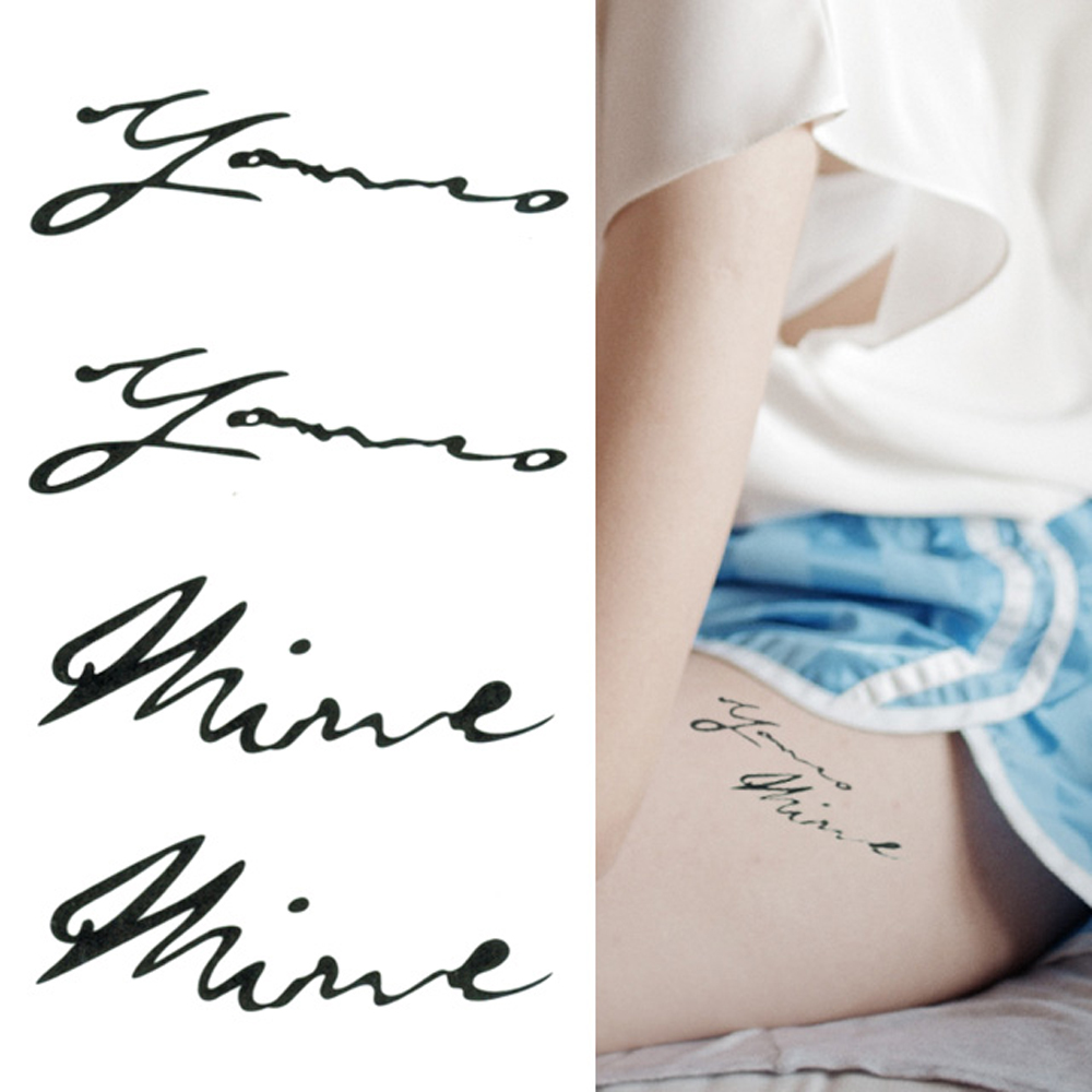 タトゥーシール 2枚セット you & mine【タトゥーシール/TATTOO/ボディシール/刺青シール/ステッカー】