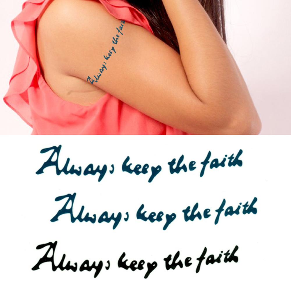 タトゥーシール 2枚セット Always keep thefaith【タトゥーシール/TATTOO/ボディシール/刺青シール/ステッカー】