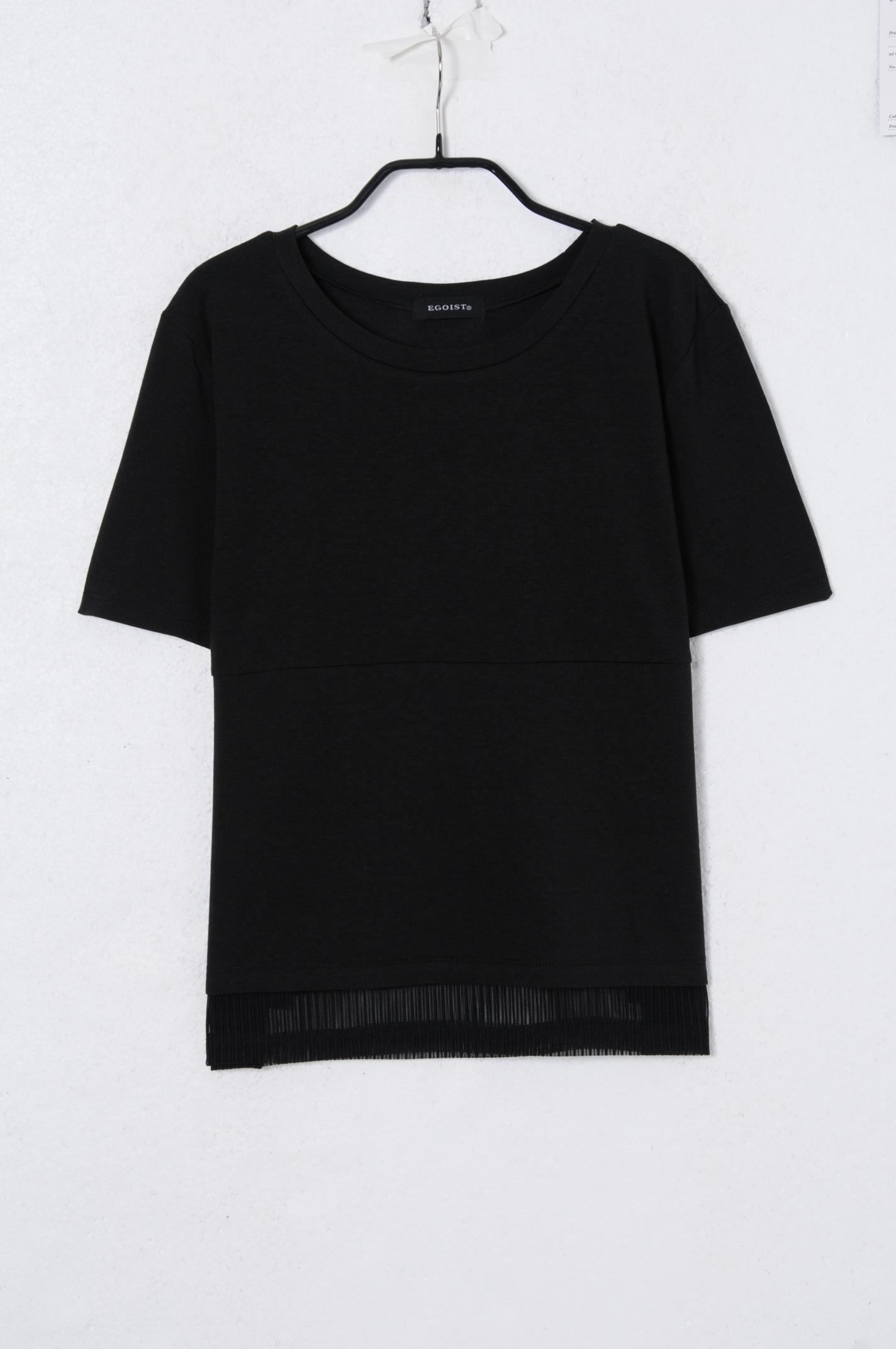 シャツ通販〜EGOISTブランドのストライプレイヤード風TOP