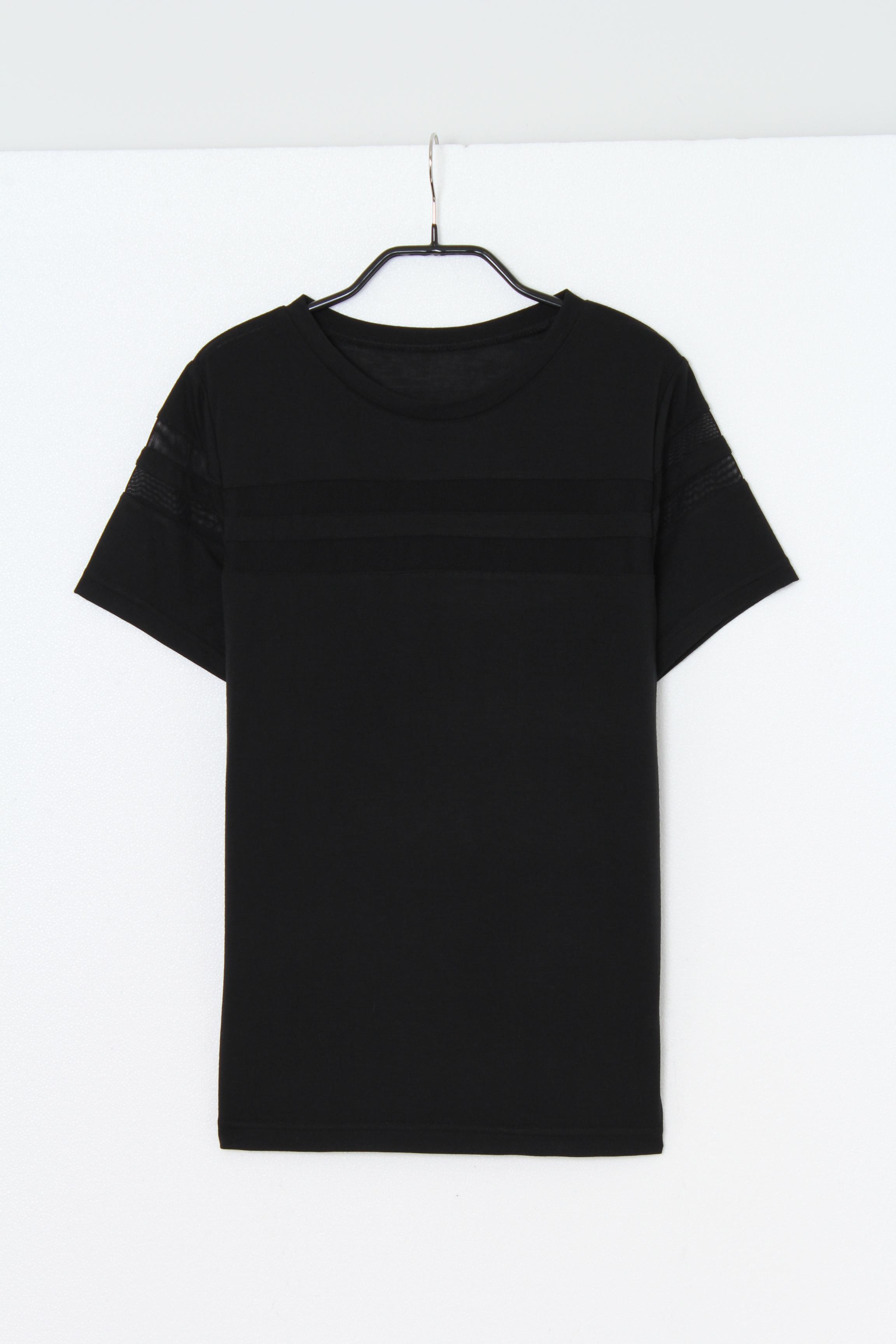 シャツ通販〜EGOISTブランドのWラインメッシュTシャツ