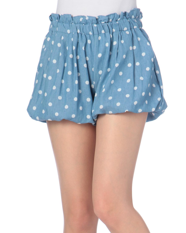 パンツ通販〜LIZ LISAブランドの【LIZ LISA doll】ドットプリントバルーンショートパンツ