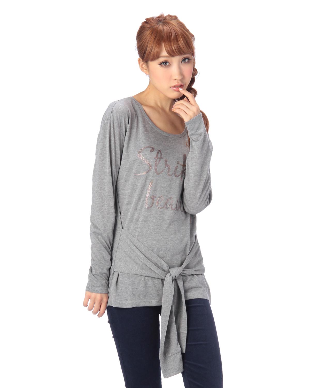 シャツ通販〜LIZ LISAブランドの【LIZ LISA doll】フェイク前結びTシャツ