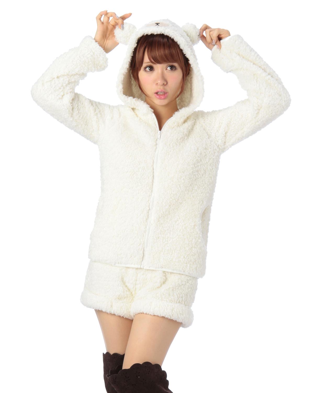シャツ通販〜LIZ LISAブランドの【Penderie】モコモコくまパーカーxショートパンツSET
