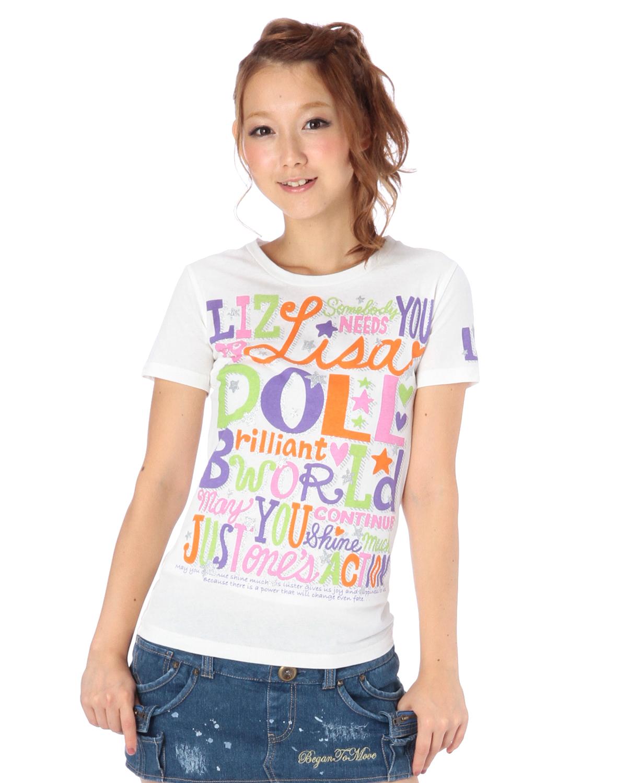 シャツ通販〜LIZ LISAブランドの【LIZ LISA doll】ラメロゴT