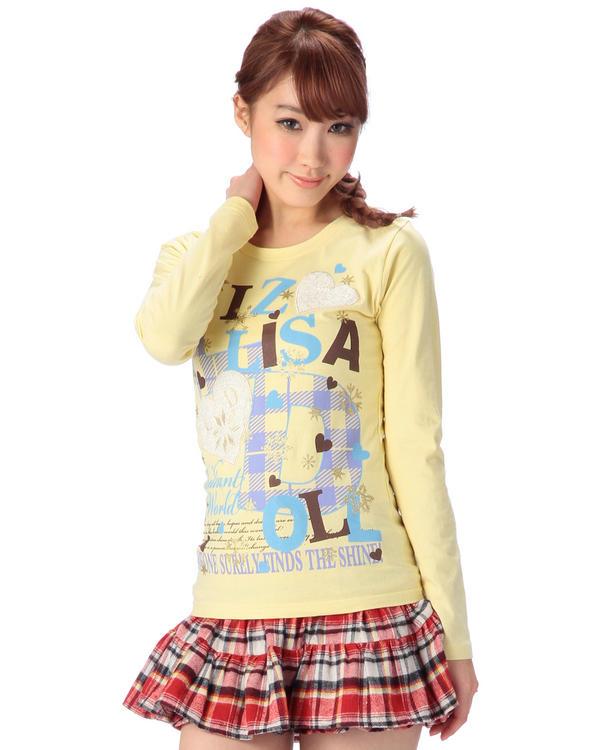 シャツ通販〜LIZ LISAブランドの【LIZ LISA doll】ハートモチーフ×ロゴロゴTシャツ
