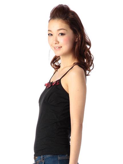 キャミソール通販〜LIZ LISAブランドの【LIZ LISA doll】胸チェックフリルキャミ