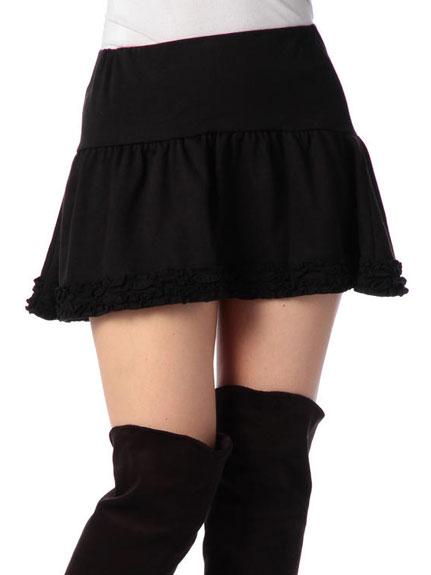 スカート通販〜LIZ LISAブランドの【LIZ LISA doll】ミニ裏毛裾フリルSK