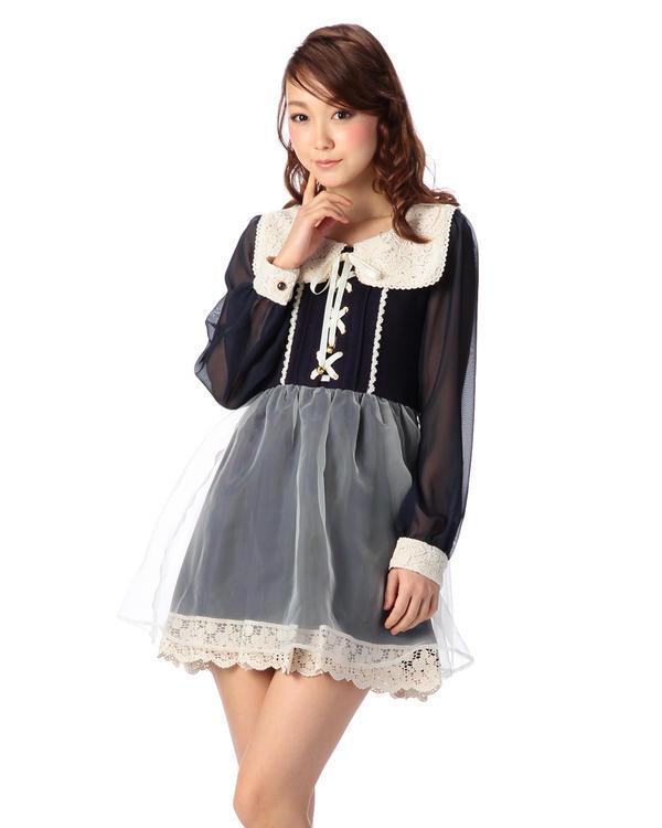 ワンピース通販〜LIZ LISAブランドの【LIZ LISA】セーラー衿ワンピース