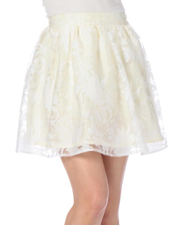 スカート通販〜LIZ LISAブランドの【Tralala】花柄オーガンジースカート