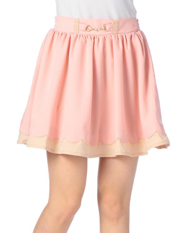 スカート通販〜LIZ LISAブランドの【Penderie】裾スカラップ切替スカート