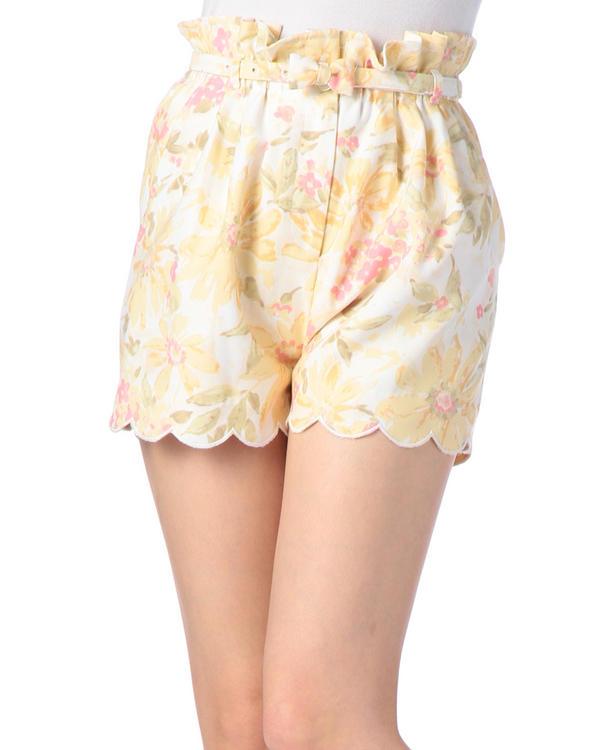 パンツ通販〜LIZ LISAブランドの【LIZ LISA】花柄スカラップショートパンツ