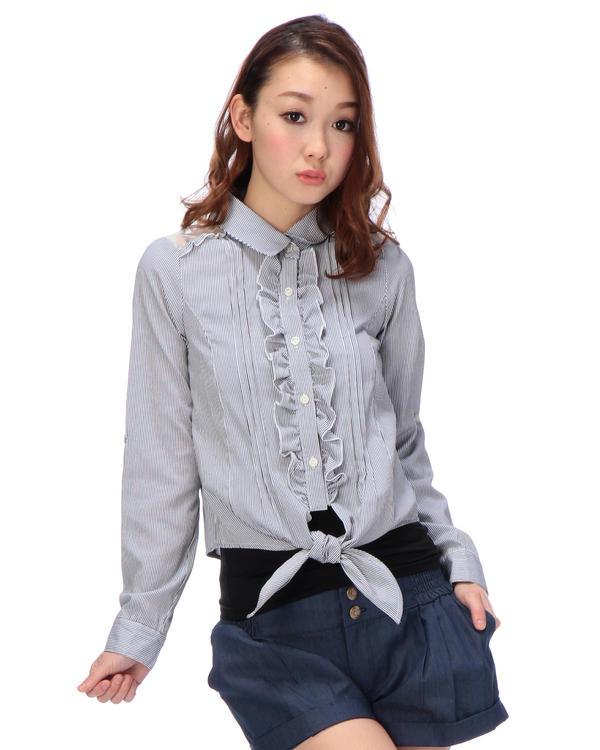 シャツ通販〜LIZ LISAブランドの【Tralala】コードレーンストライプシャツ