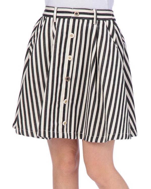 スカート通販〜LIZ LISAブランドの【Tralala】フロントボタンタックフレアスカート