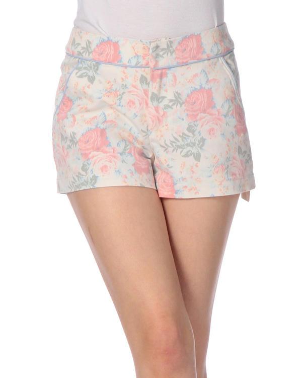 パンツ通販〜LIZ LISAブランドの【Tralala】パステル花柄ショートパンツ