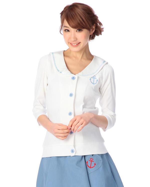 シャツ通販〜LIZ LISAブランドの【Tralala】5分袖細ボーダーマリントップス