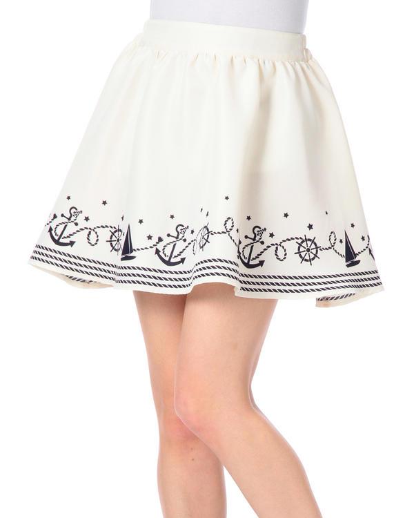 スカート通販〜LIZ LISAブランドの【Tralala】マリンテイストプリントスカート