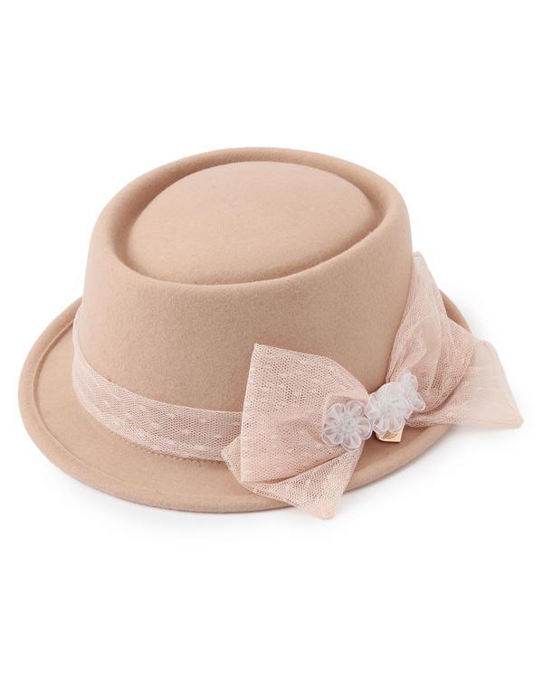 帽子通販〜LIZ LISAブランドの【LIZ LISA】ドットメッシュリボンポークパイハット