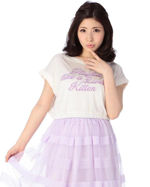 シャツ通販〜LIZ LISAブランドの【LIZ LISA】バックレースロゴTシャツ