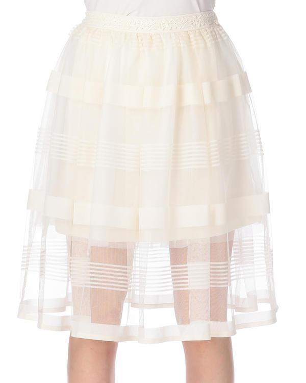 パンツ通販〜LIZ LISAブランドの【LIZ LISA】ボーダーメッシュ膝丈スカート