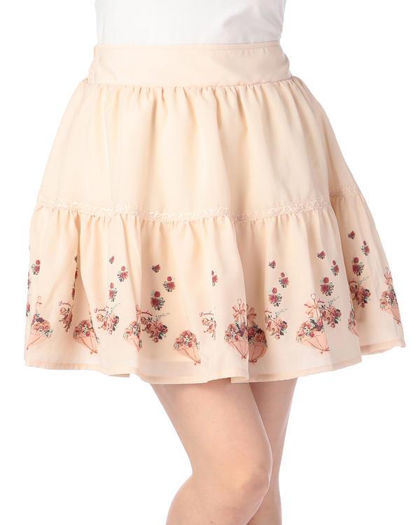 【Penderie】アンブレラフラワープリントスカート