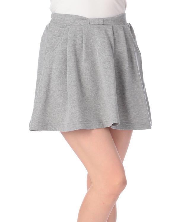 【Tralala】無地ウエストリボンスカート