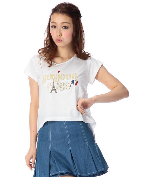 シャツ通販〜LIZ LISAブランドの【LIZ LISA 】ビジューロゴTシャツ