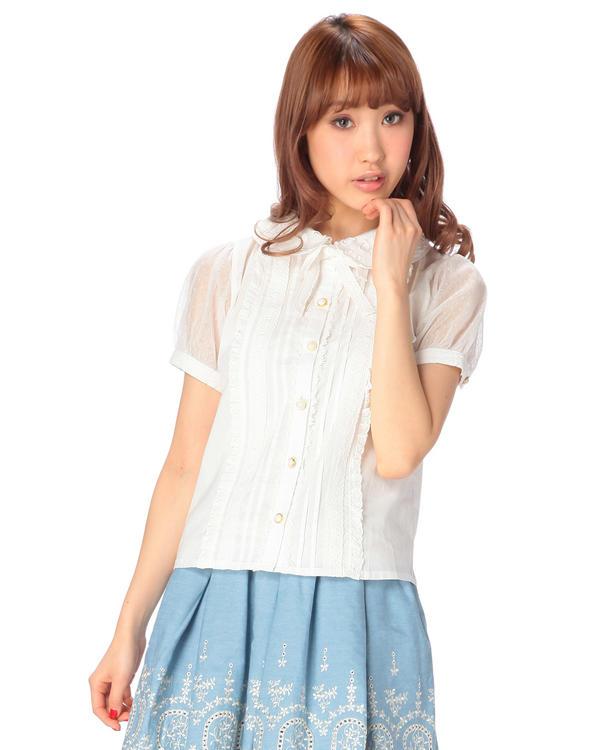 シャツ通販〜LIZ LISAブランドの【LIZ LISA】☆WEB LIMITED☆袖メッシュシャツ